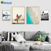 7-Space Nordic Decoration Poster Wall Art Print Canvas Painting Sea And Iceberg Landscape Wall Pictures For Living Room No Frame(China)