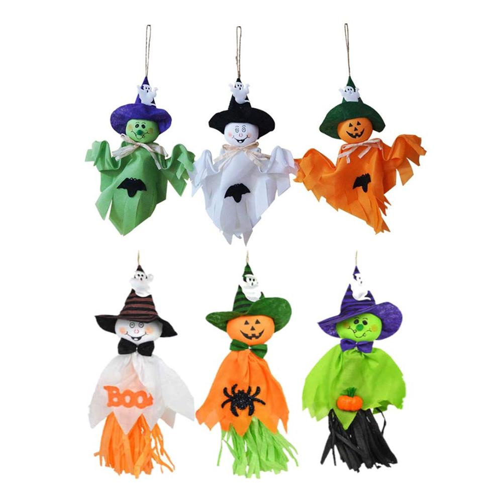 Halloween Décorations de Fête Orange//Vert Citrouille Pendaison lanternes de papier Parti