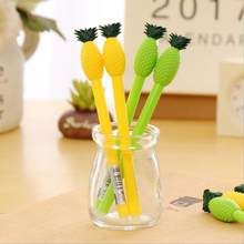 4 Piece Lytwtw s Kawaii Stationery Kawaii Cute Pineapple Erasable Erasing Gel  Pens Offices School Supply Gift Handles Creative 42cb6d8ba62b