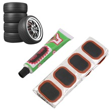 High Quality 48pcs Bike Tire Bicycle Kit Patches Repair Glue Tyre Tube Rubber Puncture