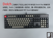 mechanical keyboard  thick PBT black Dolch keycap cherry mx OEM  keyboard 104 poker 61 keyboard 60% side print  kbt pure