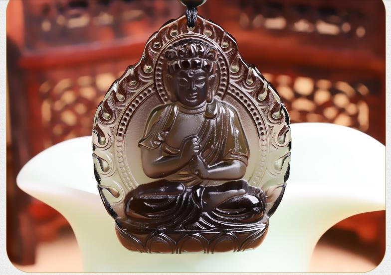 The new light spot new natal Buddha necklace and ice Tathagata Zodiac Pendant.