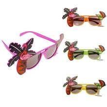 Flamingo Decorative Cocktail Hawaiian Sunglasses Fancy Dress Tropical Party Glasses Wedding Party Home Decorations Cute Gifts(China)