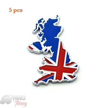 5pc Chrome Union Jack England Flag Car Rear Boot Trunk Emblem Badge Sticker for Mini Cooper JCW CLUBMAN Countryman Clubvan Coupe(China)