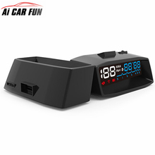 2017 Newest 4F Car OBD2 II HUD KM/h MPH Overspeed Warning Windshield Projector Alarm System Head Up Display