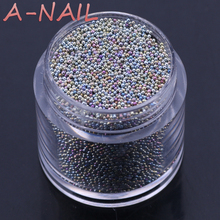 Mini 0.8mm Gradient Beads Shining Rhinestone3D Nail Decoration for UV Gel Manicure Nail Glitter Decoration Colorful Micro Powder(China)