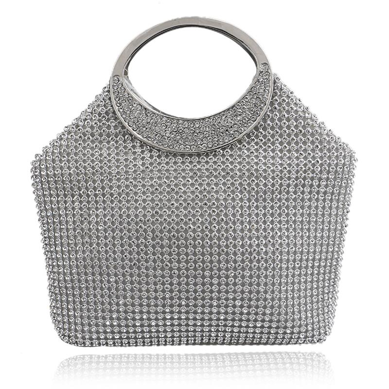 HOT Bucket shaped evening bags diamonds clutch purse handbags for lady  tote evening bags for wedding<br><br>Aliexpress