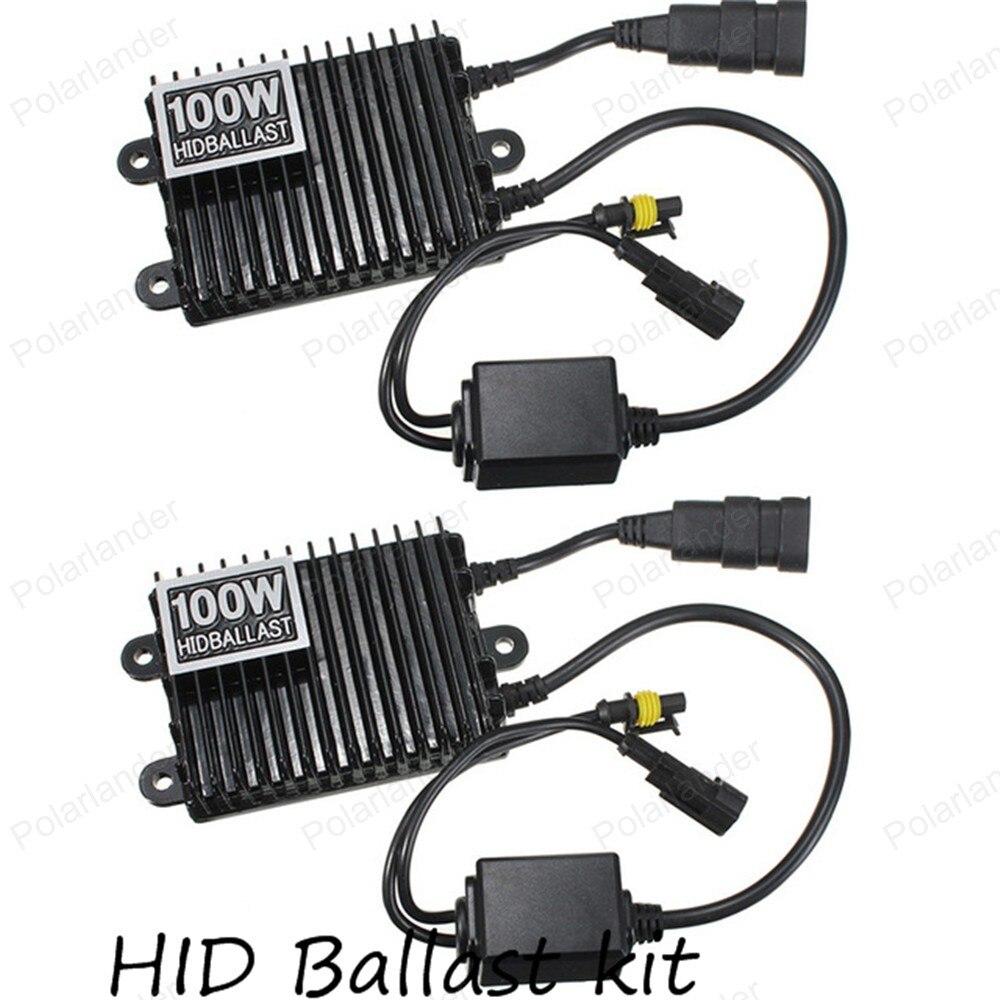 Slim Ballast kit Xenon Hid Kit 100W H3 H4 HB3 9005 HB4 9006 6000K 8000K Car light source Headlight bulbs lamp<br><br>Aliexpress