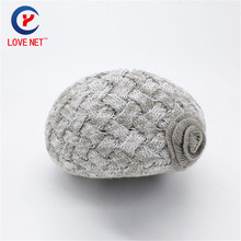 2017 fashionable novelty flower pattern knitting women caps grey acrylic beautiful round hats womens beanie hats DS20170146 x111