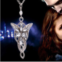 Hobbit Elves Princess Aragorn Arwen Evenstar Pendant Necklaces Collier Gothic Twilight Star Women Accessories Jewelry Bijoux