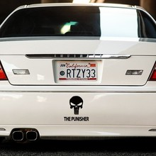Funny Cool Skull Earphone Spade Red Lip Sky Cross The Punisher Zeno Power Car Styling Reflective Sticker Decal Exterior Decor