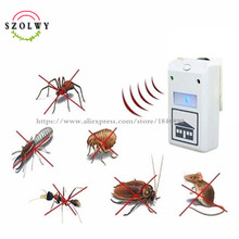 2017 hot sale Pest Repelling Aid Electronic Control Ultrasound Machine Animal Repeller 110V/220V(China)