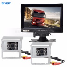 Buy DIYKIT IR Night Vision CCD Rear View Car Camera White + 7 inch HD TFT LCD Car Monitor Reverse Rear View Monitor Screen for $78.92 in AliExpress store