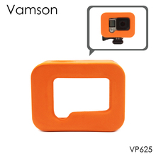 Vamson for Go pro Floaty Cover for GoPro Hero 4 3+ Housing Case Keep it Orange(China)