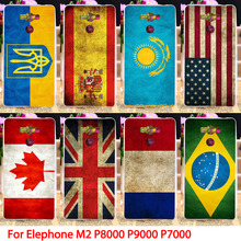 Soft TPU Flags Phone Case For Elephone P8000 M2 P7000 P9000 5.5 inch Back Covers National Protectors Housings Hoods Skin Bags