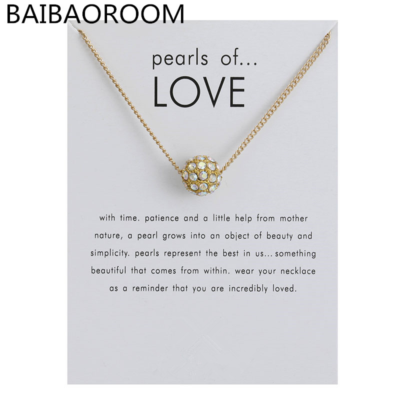 New Arrived Fashion Jewelry Pearl Ball Pendants Necklace For Women