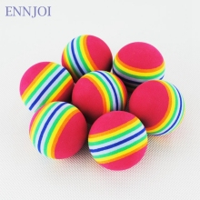 6PCS Golf Balls Rainbow Stripe Foam Sponge Golf Balls Swing Indoor Practice Training Light weight Golf Balls Golf Practice