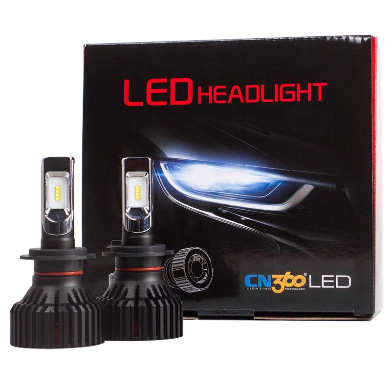CN360 2PCS Car LED Light Headlight H4 H7 H8 H9 H11 9005 HB3 9006 HB4 12V 6500K LED Auto Bulb Headlamp Fog Lamp 60W 8000LM 21