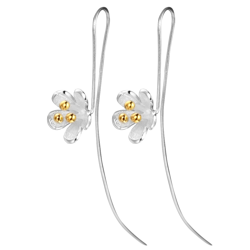 QIAMNI-Women-s-925-Sterling-Silver-Flower-Long-Chain-Dangle-Hook-Earring-Girls-Wedding-Gift-Minimalist