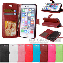New Luxury Phone Bag Cover For iPhone6 4.7 Fashion Wallet Stand PU Leather Case For iPhone 6 6S With Card slot + Photo Frame(China)