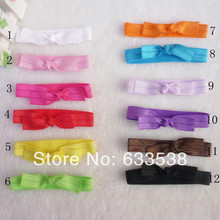 120pcs/lot Stretchy Elastic Headbands Girls Shimmery Satin Hair Accessory Girls Headwear Girls FOE Knotted Elastic Hair Ties D12