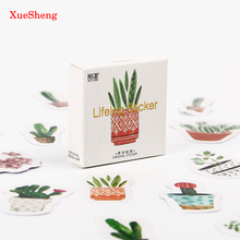 135PCS/3sets Cultured Green Plants Label Stickers Decorative Stationery Stickers Scrapbooking DIY Diary Album Stick Label