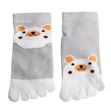 Ephex Children Socks Korea Kawaii Cute Cartoon Bear Five Toes Socks Kids Socks Girl Boy Five Fingers Socks(China)