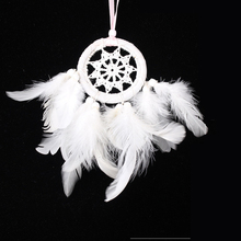 New white feather small pendant dream catcher Small handing pendant decoration for bags Car feather pendant Home handmade Gifts