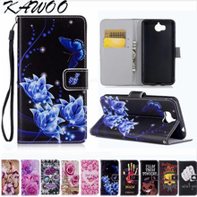 Buy Patterned Folio PU Leather Card Slots Wallet Case Cover Huawei Y5 2017 Flip Kicktand Coque sFor Huawei Y6 2017 Shell Capa for $2.72 in AliExpress store
