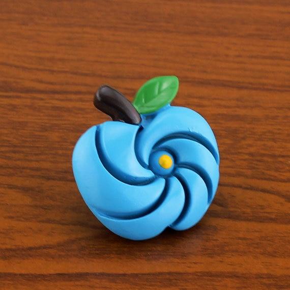 Blue Apple Unique Dresser Knobs Kids Door Knobs Resin  Decorative Knobs for Children Bathroom Cabinet Handle Fruit<br><br>Aliexpress