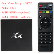 Amlogic S905X Quad Core WIFI 4KHD Media Player Smart Set Top BOX X96 Android 6.0 TV Box