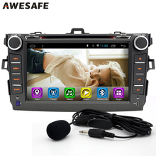 "AWESAFE 8"" 2 Din Android 6.0 Car DVD Radio Autoradio For Toyota Corolla 2007 2008 2009 2010 2011 Stereo Radio 1024*600 GPS Navi(China)"