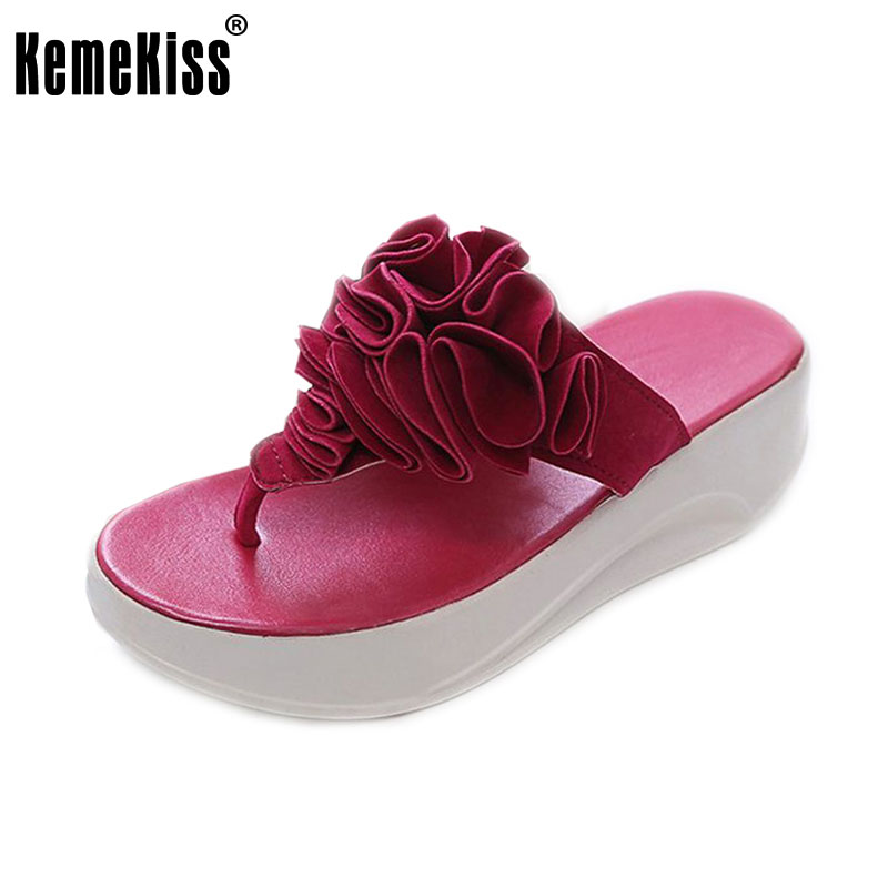 flower brand quality leisure woman sandals slippers summer fashion wedge shoes beach flip flops women shoes size 35-39 WC0171<br><br>Aliexpress