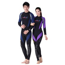 DIVE&SAIL WDS-4127 1.5mm Women Men  One Piece Kayak Jetski Scuba Diving Suit Surf  Long Sleeve Wetsuit snorkelin