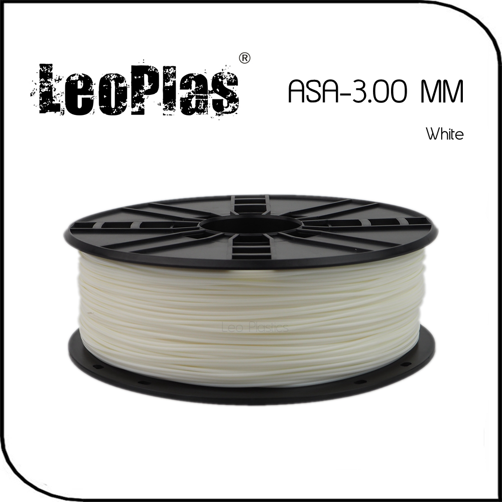 Worldwide Fast Delivery Direct Manufacturer 3D Printer Material 1kg 2.2lb 3mm White ASA Filament<br>