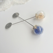 70MM 30PCS Yellow / Blue Crystal Nickel Color Metal Safety Pin Brooches Breastpin With Disk Jewelry Findings & Components(China)