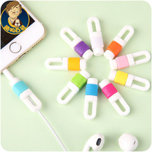 New Arrival 50pcs/lot Cable wire Organizer Earphone Cable Protector For iphone 5 5s 6 7 cable saver Protection cable winder