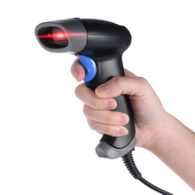 2D QR 1D USB Barcode Scanner CCD Red Light PDF417 Screen Scanning Bar Code Reader Multiple Language for Mobile Payment market(China)
