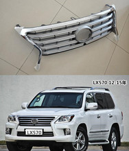 Car styling Front Racing Grill Grille Upgrade Replacement For Lexus LX LX570 2012 2013 2014 2015 accessories