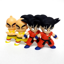 Cartoon Dragon Ball Pendrives 4GB 8GB 16GB 32GB 64GB USB Flash Drives Goku Monkey King Krilin Gift Pen Drive Memory Stick(China)