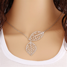 Leaves Necklace Clavicle Chain Women's Simple Fashion Gold Silver Plated Chains Necklaces Jewelry For Women Charm Gargantilla