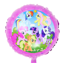 10pcs/lot 18 inch cartoon My Little Pony Foil balloons kids birthday party Decoration aluminium foil balloon party supplies