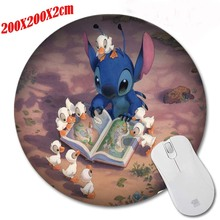 Cats Read Books And Duck Cute Cartoon DIY anime wallpaper Print Mousepad Silone Pad Soft Round Rubber Mouse Mat Pad  200*200*2mm