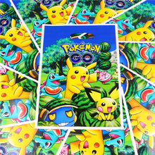 100pcs Pokemon GO Birthday Party Decoration Plastic Disposable Pikachu Loot Candy Bags Kids Favors Gift Bag Baby Shower Supplies