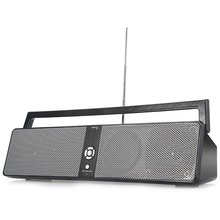 BTK 3301 Portable HiFi Boombox Wireless Bluetooth Speaker with USB AUX TF Card FM Function Loudspeaker