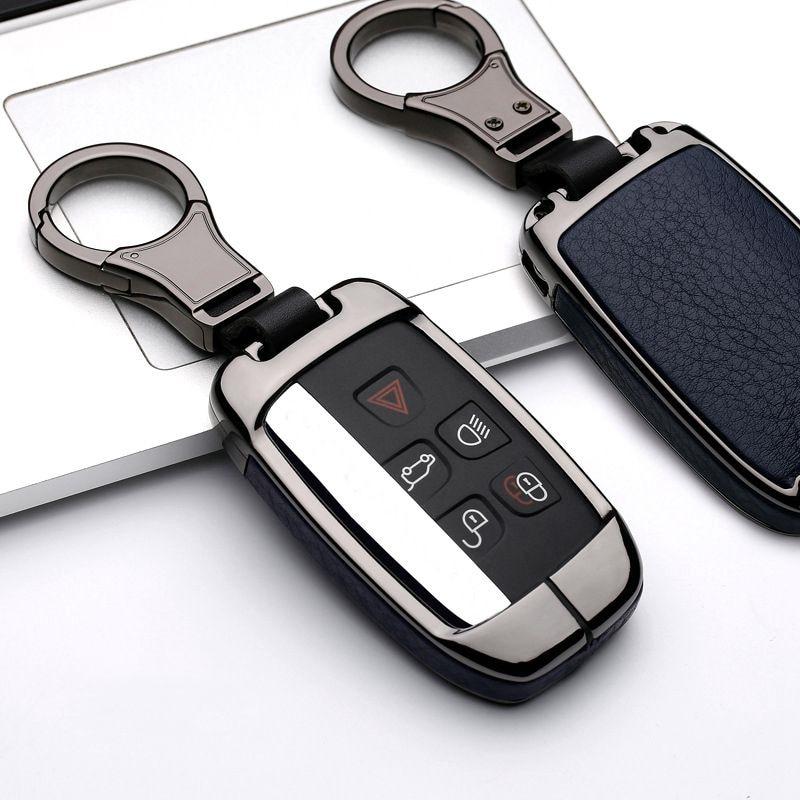 Land Rover Aluminum Remote Smart Silver Key Cover Fob Case Shell Cap LR4 Evoque