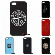 Hot Black back stone island Pattern Hard Phone case For iPhone 4 4S 5 5C SE 6 6S 7 Plus Samsung Galaxy Grand Core Prime Alpha