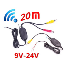 Parking Car Wireless Rear Camera Reverse Car DVD Backup RCA Video Wireless 20M 2.4Ghz Transmitter Receiver Kit for Nissa BMW
