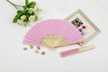 [ Fly Eagle ] Free shipping Pink hand held Chinese paper fan with 11 colors for choice