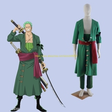 ONE PIECE Roronoa Zoro Cosplay Costume Japanese Anime Uniform Outfit Clothes Coat & Pants & Belt & Girdle